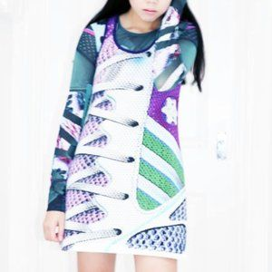 NWOT Mary Katrantzou for Adidas Tank Dress XS